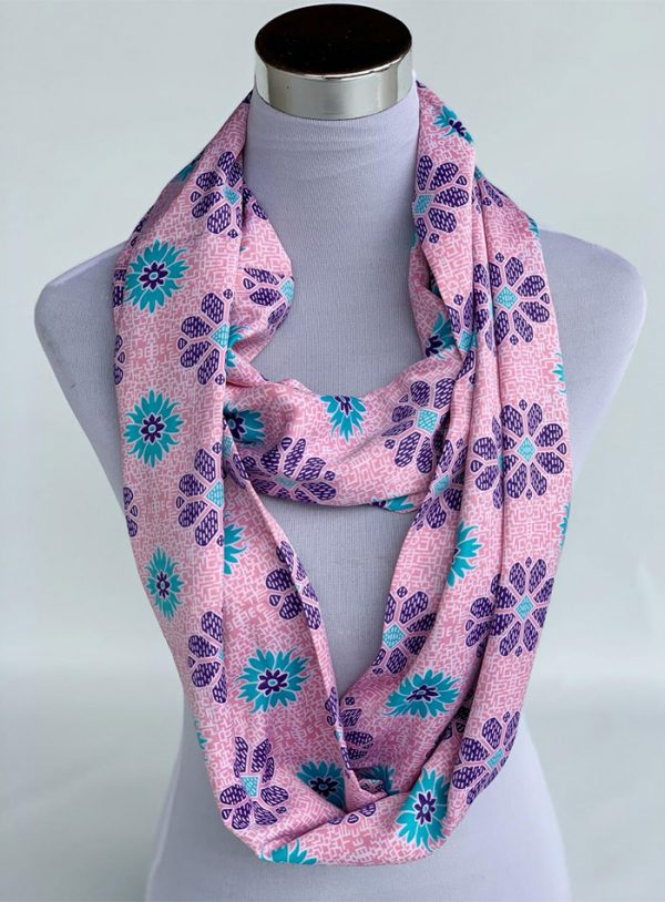 Changgih Infinity Scarf Light Pink
