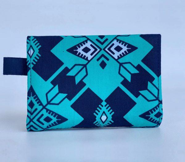 Changgih Blue-Teal Mini Wallet Back