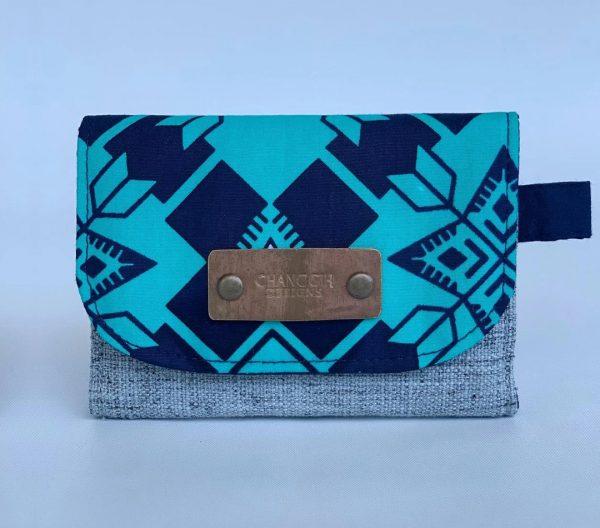 Changgih Blue-Teal Mini Wallet Front