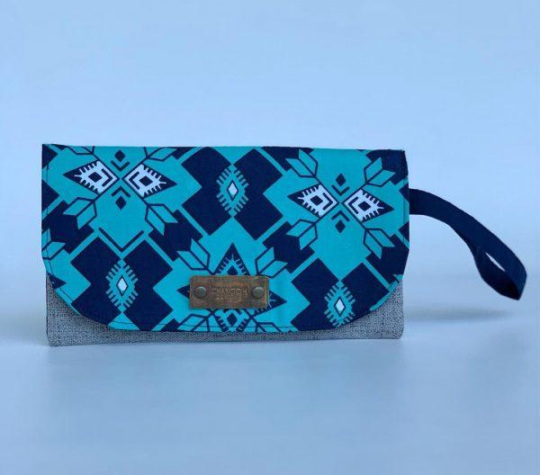 Changgih Blue-Teal Wristlet Front